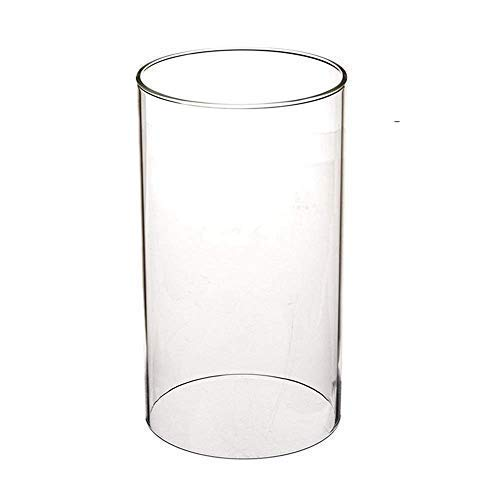 SUNWO Borosilicate Glass, Clear Candle Holder, Glass Chimney for Candle Open Ended, Glass Hurricane Candle Holders of Any Size (2.5/3/3.5/4/4.5/5/5.5/6/8 Inch)