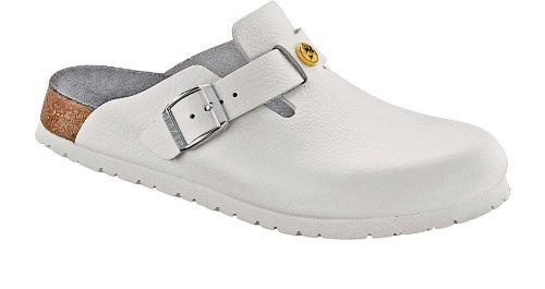 Birkenstock Boston ESD Zoccoli Pelle bianco - calzata normale (EU 39)