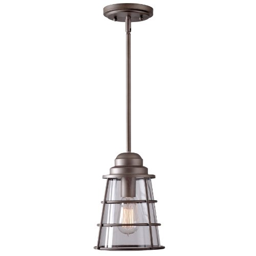 Kenroy Home 93008MP Wharfside 1-Light Pendant with Antique Nickel Finish