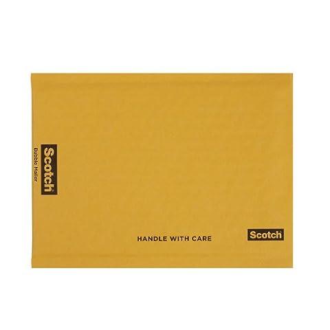 Scotch Kraft Bubble Mailer, 12.5 in x 18 in, Size #6, 4-Pack (7935-4) - 3 Kraft Bubble