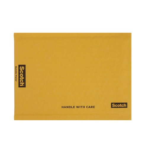 Scotch Bubble Mailer, 7.25 x 11-Inches, Size #1, 25-Pack