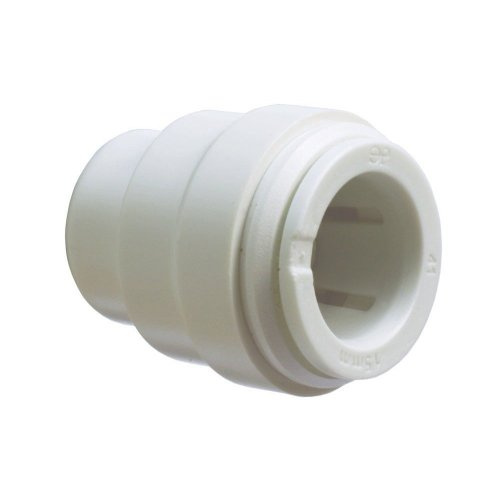 John Guest Speedfit 22 mm End Stop PSE4622WP Push fit fittings for plastic or copper pipe (Pack of 2) ()