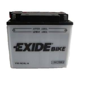 Bateria de moto Exide Y60-N24L-A Con pac de acido inc. 12V 28Ah