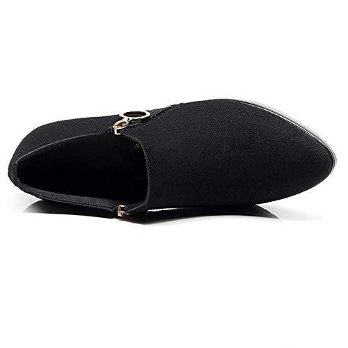 Des En Aiguille 37 Hiver Talons Zl La Sauvages Hauts Mode Chaussures 46 Talon Automne Femmes De Les Black Et wkN08PnOX