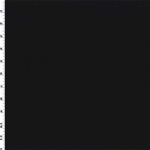 Black Wool Blend Gabardine, Fabric by The Yard