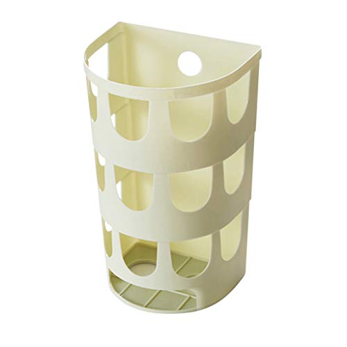 Elaco Plastic Bag Storage Box Wall-Mounted Garbage Bag Collection Holder Storage Rack Bathroom Home ()