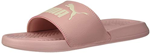 PUMA Popcat Slide Sandal, Bridal Rose-Pastel Parchment, 9 M US