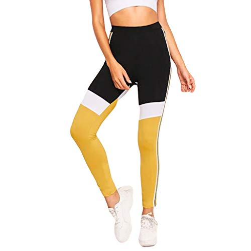 iHPH7 Leggings,Leggings for Women,Leggings Women,Pants for Women,Pantyhose for Women,Yoga Pants (XL,1- Yellow) ()