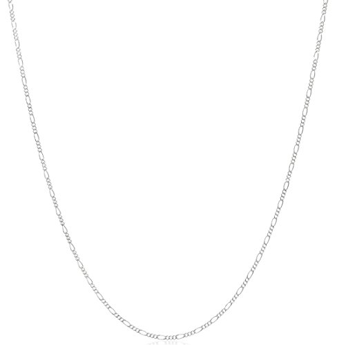Figaro Ring - Thin 1.5mm 925 Sterling Silver Nickel Free Figaro Chain Ring Clasp, 20 inches
