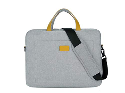 Price comparison product image Nylon 13 14 15.6 Laptop Shoulder Bag Sleeve Pouch Bag for Xiaomi Air MacBook Air Pro Lenovo Dell HP Asus Acer Notebook Case shoulder2 Light Grey 14.1-inch
