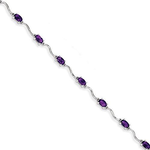 Bracelet Femme-Argent 925/1000-Améthyste-JewelryWeb