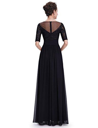 Lang Ever Schwarz Lace Damen 08655 Pailetten Abendkleid Pretty Elegant wBqgOXSB