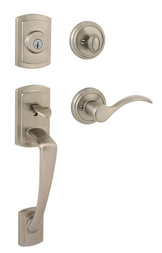 Keyed Entry Set Baldwin Hardware (Baldwin Prestige Nautica Single Cylinder Handleset with Tobin Lever featuring SmartKey in Satin Nickel)