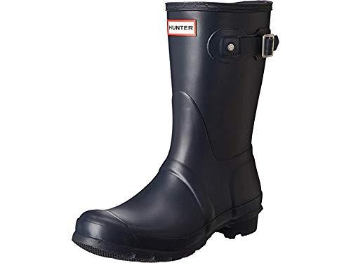 Hunter Womens Original Short Navy Matte Rain Boot - 9 B(M) US