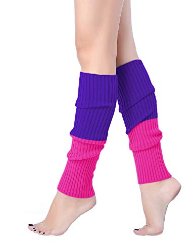 V28 Women Juniors 80s Eighty's Ribbed Leg Warmers for Party (Best Leg Warmers)