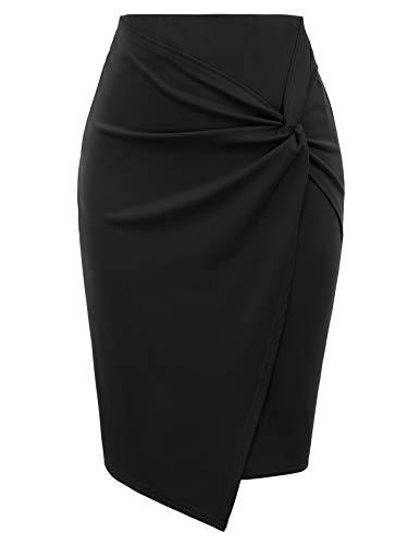 Women's Below Knee Pencil Skirt for Office Business Wear