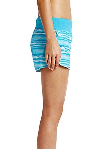 "Nike Womens 4"" Rival Printed Running Shorts Blue Lagoon"