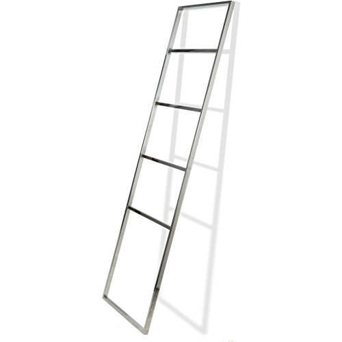 CP Standing Towel Rack Ladder for Bathroom Spa Towel Hanger, Stainless (Stainless Steel Heated Towel)