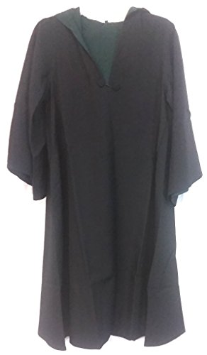 Harry Potter Deluxe Slytherin Black School Robe Habber & Dasher Discontinued - SIZE - YOUTH LARGE -