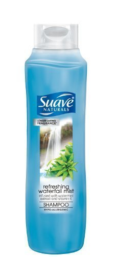 Suave Naturals Gentle Cleansing Shampoo, Waterfall Mist, 12