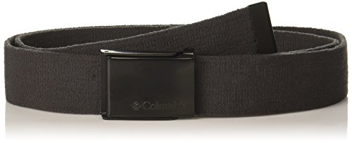Columbia Men's Military Web Belt - Casual for Jeans Pants Adjustable One sizee Cotton Metal Plaque Buckle,grey, 1size (Military Nylon Web Belt)