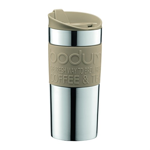 Bodum 11068-133B Travel Mug, 0.35 L/12 oz, Sand