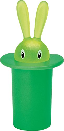 Alessi Magnet in Thermoplastic Resin, Magic Bunny Green ()