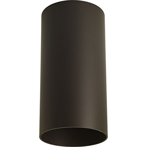 Progress Lighting P5741-20 6-Inch Flush Mount Cylinder with Heavy Duty Aluminum Construction Powder Coated Finish and UL Listed for Wet Locations, Antique Bronze