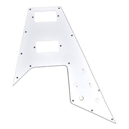 1pc-High-Quality-White-3-ply-12-Screw-Holes-Pickguard-for-Gibson-Flying-V-Guitar