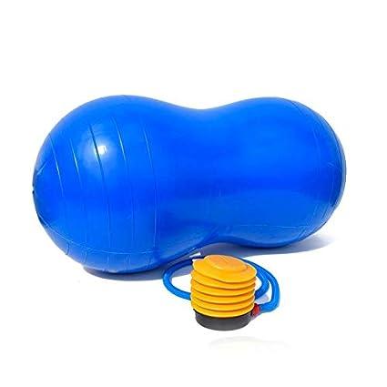 Desconocido Pelota Cacahuete para Yoga, Pilates y Entrenamiento del Equilibrio con inflador