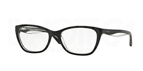 Vogue VO2961 Eyeglass Frames W827-53 - Top Black/Transparent - Frames Glasses Prices Vogue