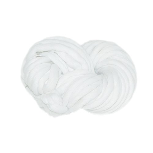 Mangocore Hand Knitting Blanket Hats Super Thick Chunky Yarn Roving Bulky Yarn 250g per lot (WHITE)