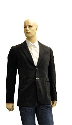 Armani Collezioni Black Polyester Jacket Coat, 40R, Black
