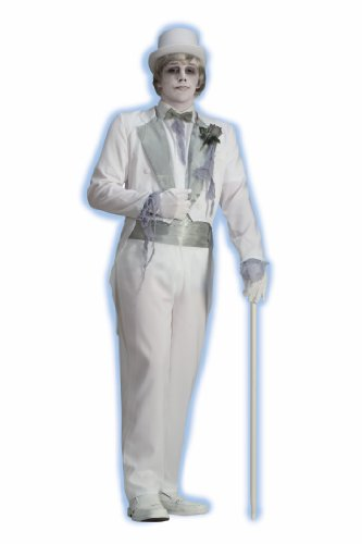 Forum Novelties Men's Ghost Groom Costume, White/Silver, One Size