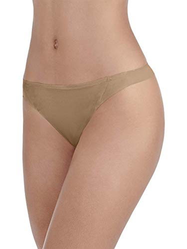 Vanity Fair Women's Underwear Nearly Invisible Panty, Totally Tan, - Beige Tan Thong