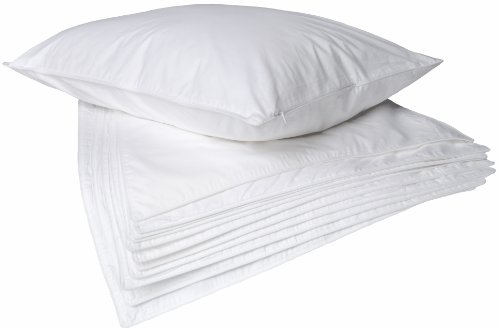 233TC WHITE PILLOW PROTECTOR WITH ZIPPER,SET OF 12, King