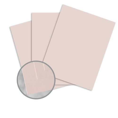 Via Smooth Light Pink Card Stock - 8 1/2 x 11 in 80 lb Cover Smooth 30% Recycled 250 per Package 30% Recycled Light