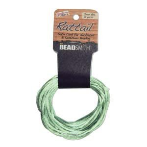 1mm Satin Rattail Braiding Cord Mint 6 Yards For Kumihimo and Craft by Beadsmith   B008UJJIAQ