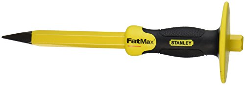 Stanley 16-329 3/4-Inch X 12-Inch FatMax Concrete Chisel with Bi-Material Hand Guard ()