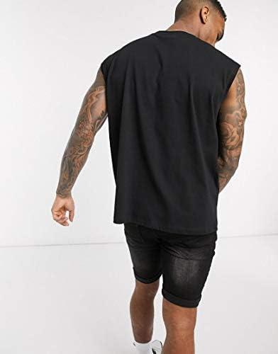 エイソス タンクトップ ノースリーブ アームホール メンズ ASOS DESIGN oversized sleeveless t-shirt with japanese text pr [並行輸入品]