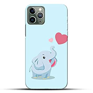 Pikkme Funky Cute Love Heart Blue Baby Elephant Background Designer Printed Hard Back Case and Cover for Apple iPhone 11…