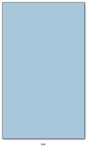 Blue Pastel Color Card Stock Paper Legal Size 8.5'' X 14'' Pack of 50 by S Superfine Printing
