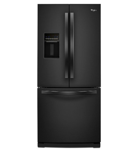Whirlpool wrf560seyb 19 5 cu ft black french door for 19 5 cu ft french door refrigerator