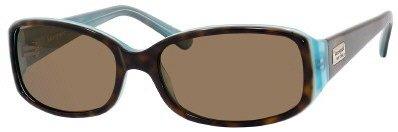 Kate Spade Women's Paxton/S Rectangular Sunglasses,Aqua Tortoise Frame/Brown Polarized Lens,one - Sunglasses Katespade