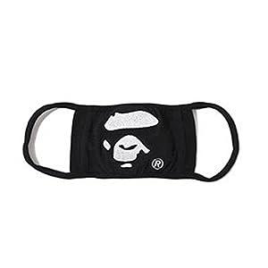 Camping Hiking mask Scarves APE HEAD Embroidery Camouflage 1st camo milo camo flu winter face Mask (Black)