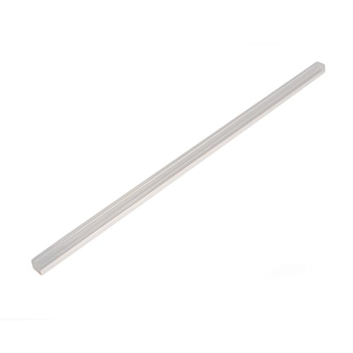 uxcell 15mmx15mmx500mm Square Shape Solid PMMA Bar Acrylic Rod Clear