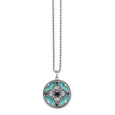 THOMAS SABO Femme  925  Argent|#Silver    Bleu Blanc Diamant Hématite Turquoise
