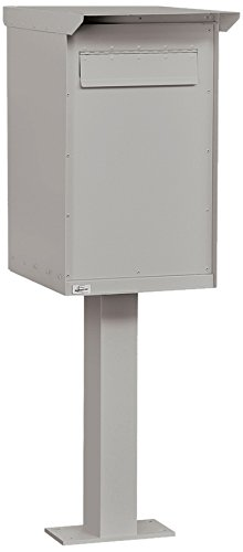 Salsbury Industries 4275GRY Pedestal Drop Box, Regular, Gray (Streetside Mailbox Package)