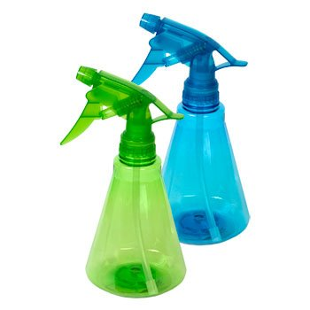 Plastic 12 Ounce Spray (Colorful Plastic Spray Bottle, 12 oz. 2 Pack Colors May Vary)