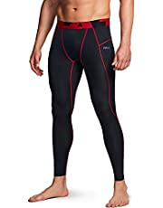 TSLA (Pack of 1, 2, 3) Men's UPF 50+ Compression Pants, UV/SPF Running Tights, Workout Leggings, Cool Dry Yoga Gym Clothes, Athletic Pocket